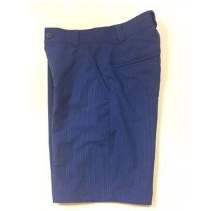 Blue Stripe Under Armour UA GOLF Flat Front Shorts